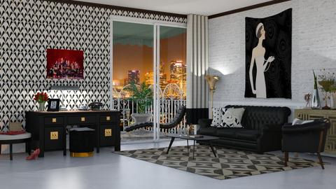 art deco living - Living room  - by nat mi