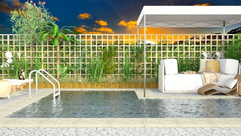sunrise pool  - Garden  - by Talia Fernanda