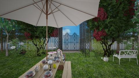 garden tea party - Classic - Garden  - by Liberty Interior