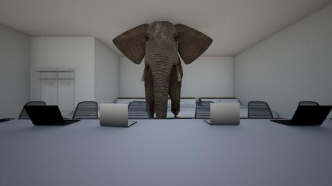 Elephant Bed Desk - Country - Bedroom  - by ChanceAlfredAOLMAIL