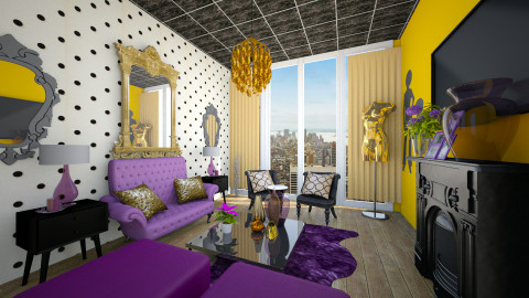 NYC Purple Glam  - Glamour - by CreativeCE
