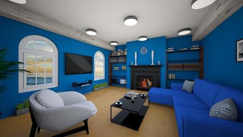Navy blue living room - Modern - by Djuka1210