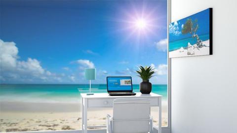 beach scene - Office  - by DarcieM88