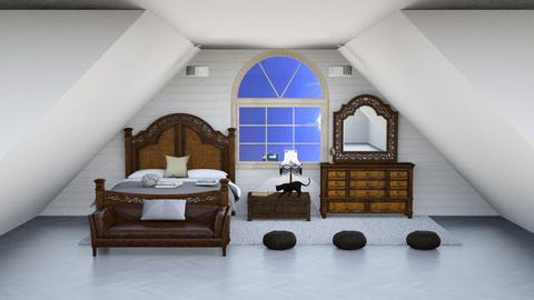 Stormy day bedroom - Bedroom  - by Jahsoftball_