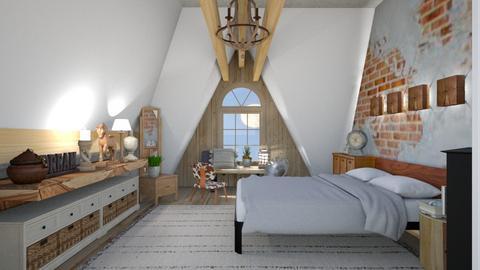 Rustic sloping - Rustic - Bedroom  - by augustmoon