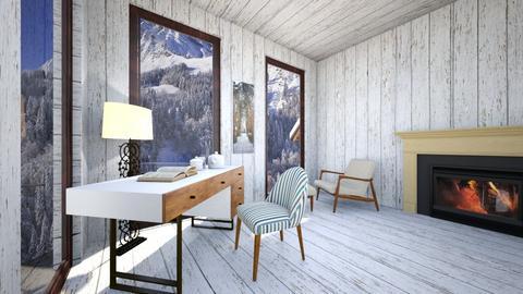 Snowy landscape - Rustic - Office  - by Twerka