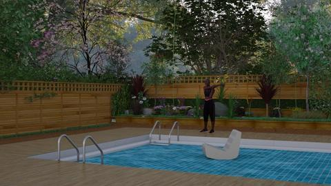 garden with a pool - Garden - by tax benefits