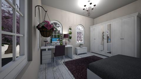 purple room - Bedroom  - by osmacik