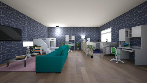 Teen room  - Modern - Bedroom  - by VanillaBluePearlCloud2008