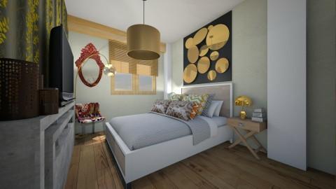 Gold Bedroom - Glamour - Bedroom  - by PROGETIM