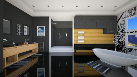 Black - Modern - Bathroom  - by Nhezi