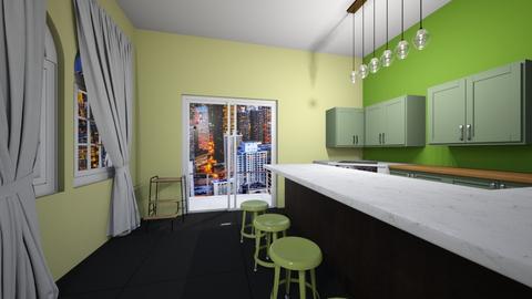 green kitchen - Modern - by kiwimelon711