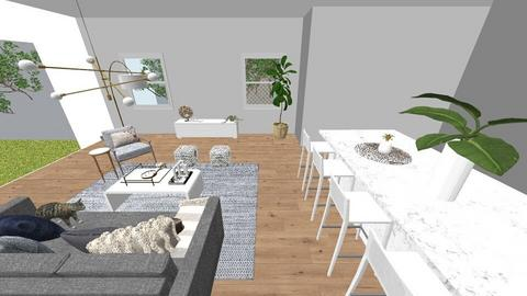 LIVING KITCHEN 1 - Living room  - by laurymonk