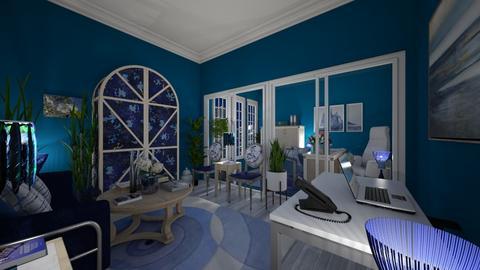 Office in Blue - Modern - Office  - by Irishrose58