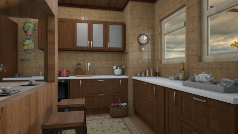 Before rain - Vintage - Kitchen  - by ljiljanan