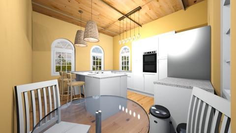 Modern Orange Kitchen - Kitchen  - by ItsKalaniOfficial