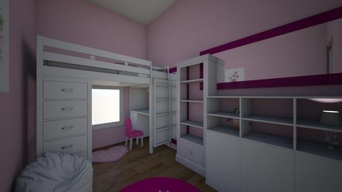 pink kids room - Kids room  - by sadiepuppy1
