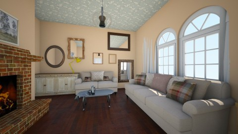 eclectic farmhouse - Living room - by famasamusa
