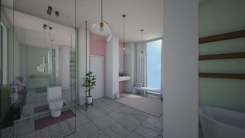 Pink and Green Bathroom - Modern - Bathroom  - by Eli_Anna