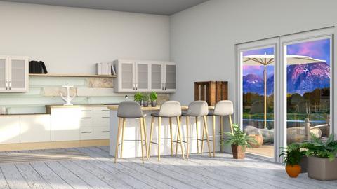 Ocean Kitchen 3 - Modern - Kitchen  - by CitrusSunrise