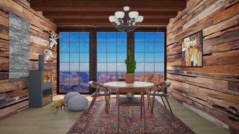 Wild West - Rustic - Dining room  - by bgref