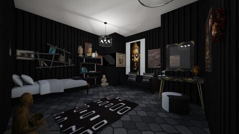 Emo Bedroom - Bedroom  - by skye245