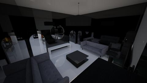 black and white - Living room - by ISABELLA BARBIERI