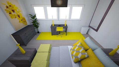 room - Eclectic - Bedroom  - by crazyyloo