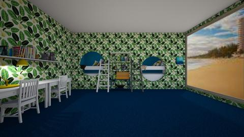 bunk beds in wall - Bedroom  - by percy_jackson_geek