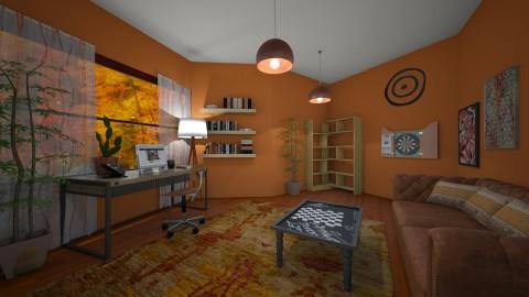 orange office - Eclectic - Office  - by kla