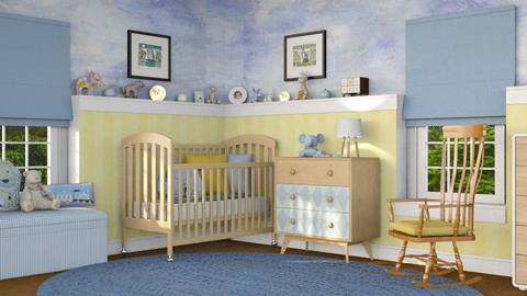 Yellow Baby - Kids room  - by GraceKathryn