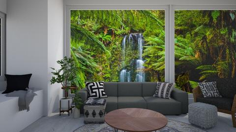 Rain forest Living - Modern - Living room  - by CitrusSunrise