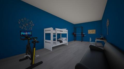 vintage workout bedroom - Vintage - Bedroom  - by aschaper