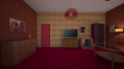 Red Room - Living room  - by mspence03