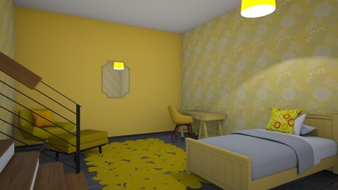 Mismatch Yellow  - Bedroom  - by designcat31