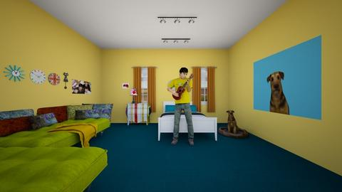 Alberto Room - Retro - Bedroom  - by muleok