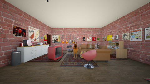The Basement - Retro - Living room  - by Megan Rose Weir