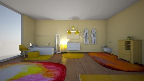 yellow bathroom - Bathroom  - by 29catsRcool