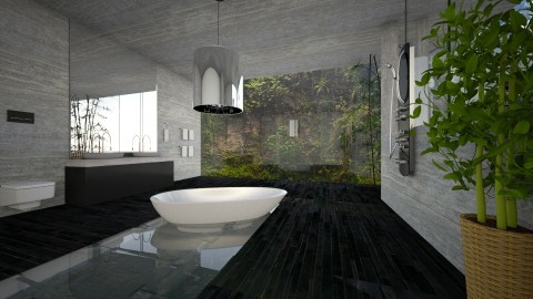 BATHROOM - Modern - Bathroom  - by Evangeline_The_Unicorn