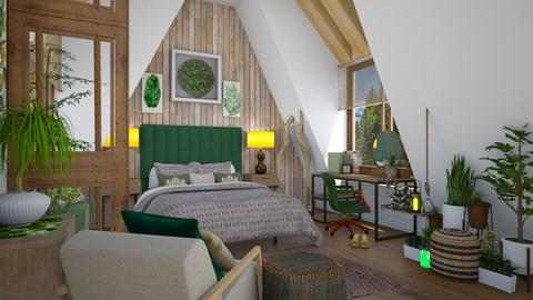 natural attic - Rustic - Bedroom  - by donella