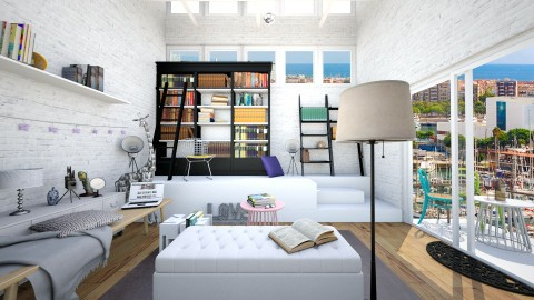 Refreshed Girl Book Room - Classic - by Bao Tran