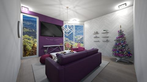 Pink and Purple Livin - Glamour - Living room  - by jordynclark