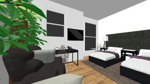 Dads new bedroom - Living room - by meloves