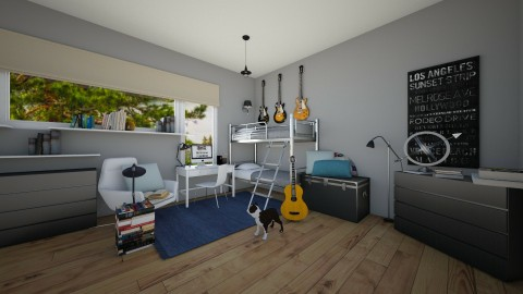 boys room - Bedroom - by sweetswagger123