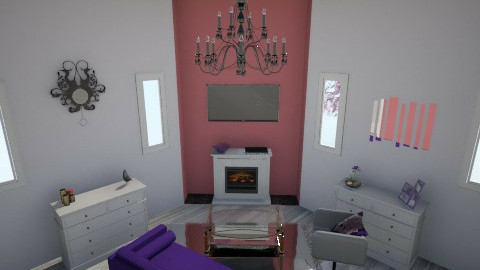 Purple and Red - Modern - Living room - by TheDyingGirl