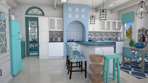 modern greek  kitchen   - Kitchen  - by Moonpearl