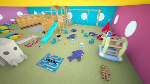 area de juegos - Minimal - Kids room - by ASU ARQUITECTURA