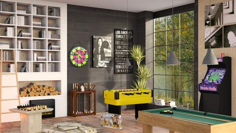 Fun Gaming Room - Eclectic - Living room  - by Sally Simpson
