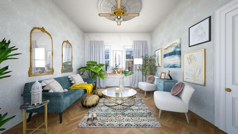 Turqoise and Gold Living  - Eclectic - Living room - by Rose2207