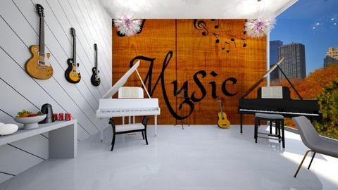 Music Room - Modern - Living room  - by Agamanta